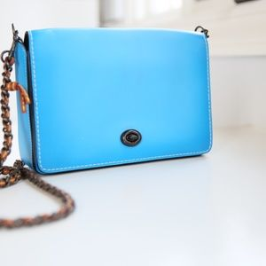 COPY - Coach dinky bag New Glovetanned blue cross…